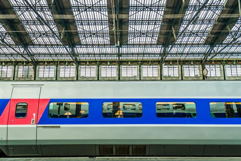 TGV wysoki prędkości francuza pociąg fotografia stock