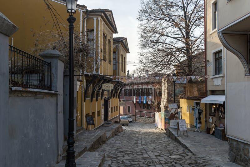 19 thårhundradehus i arkitektonisk och historisk reserv den gamla staden i stad av P arkivfoton