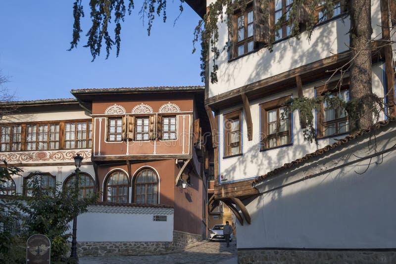 19 thårhundradehus i arkitektonisk och historisk reserv den gamla staden i stad av P arkivbilder