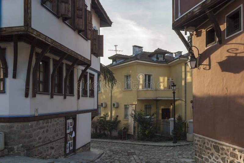 19 thårhundradehus i arkitektonisk och historisk reserv den gamla staden i stad av P arkivbild