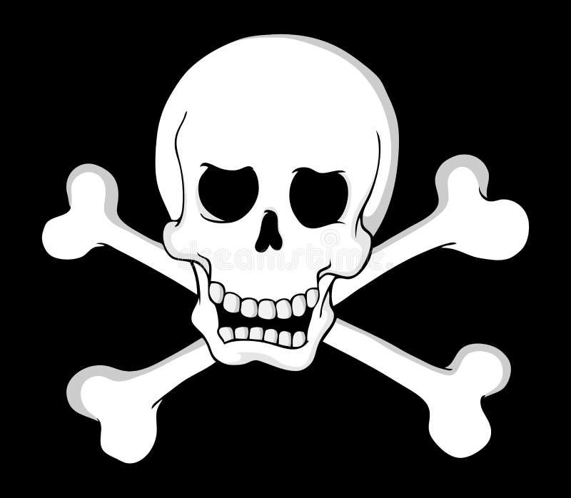 Thème 2 de crâne de pirate illustration de vecteur