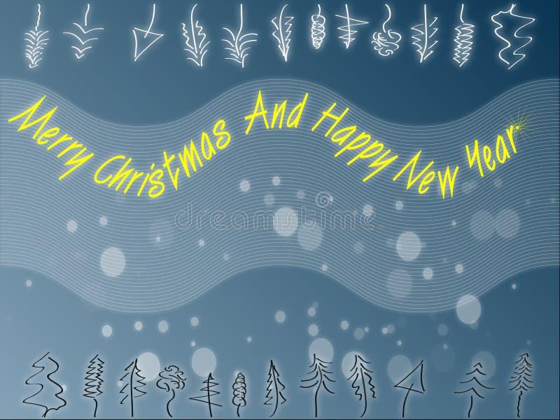 thème abstrait de Noël illustration de vecteur
