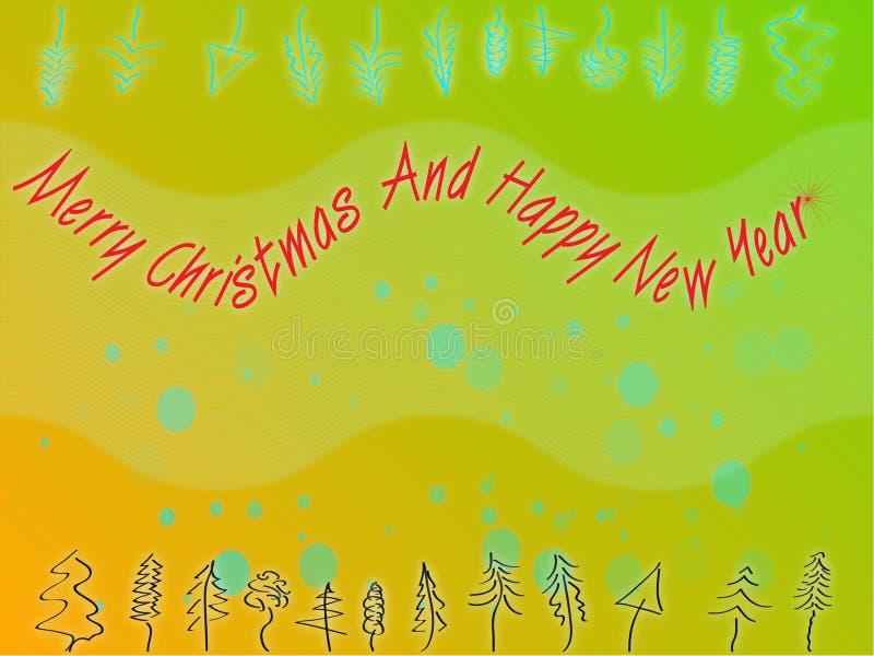 thème abstrait de Noël illustration stock