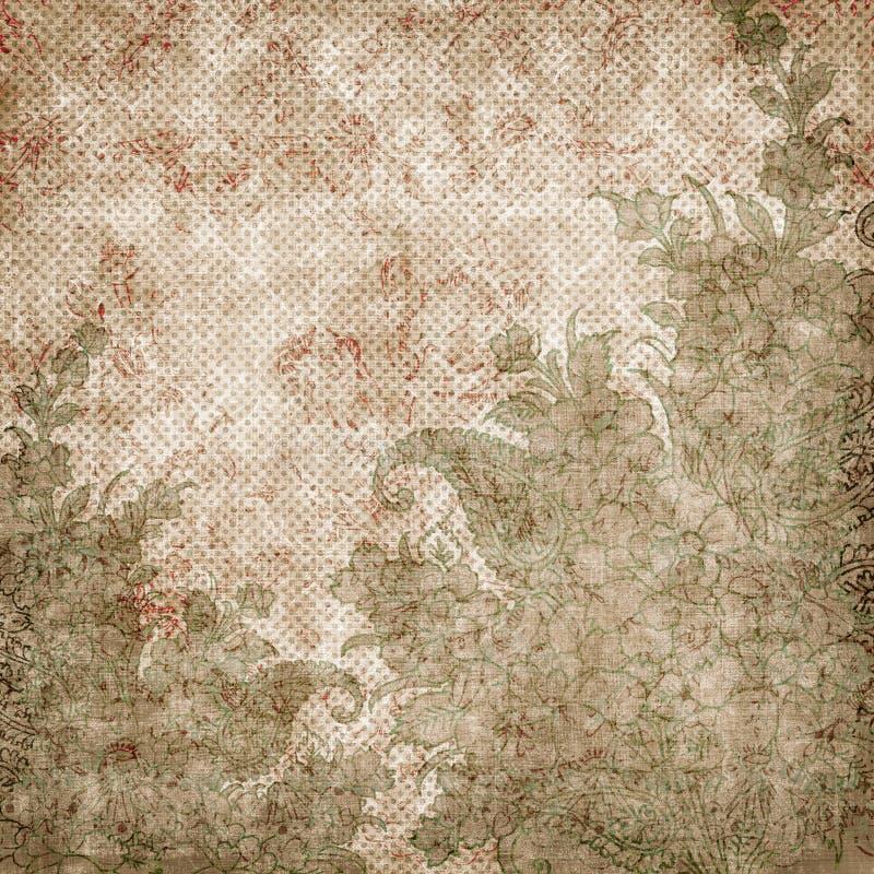 Thème antique floral de fond de cru illustration libre de droits