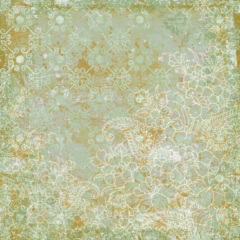 Thème antique floral de fond de cru image libre de droits