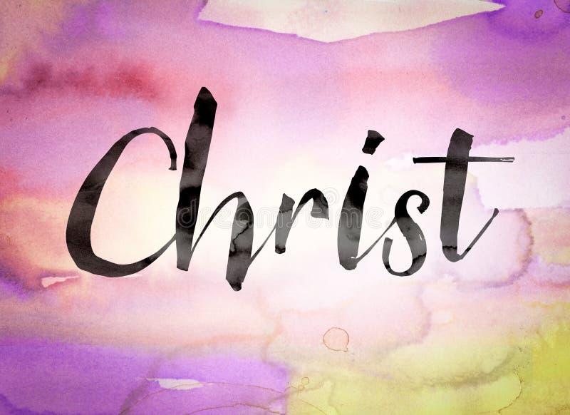 Thème d'aquarelle de concept du Christ illustration stock