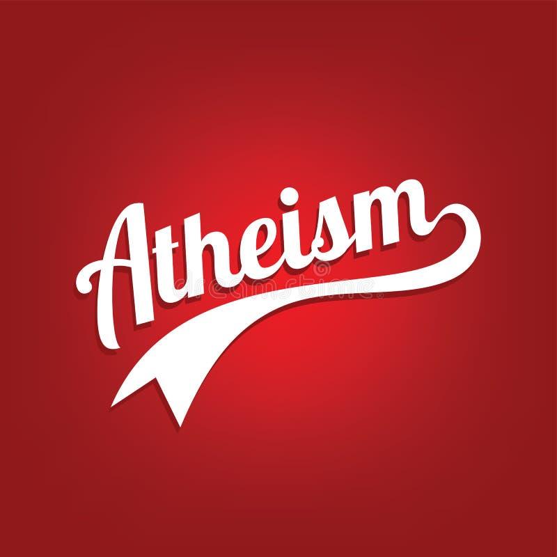 thème d'athéisme - contre la campagne religieuse d'ignorance illustration stock