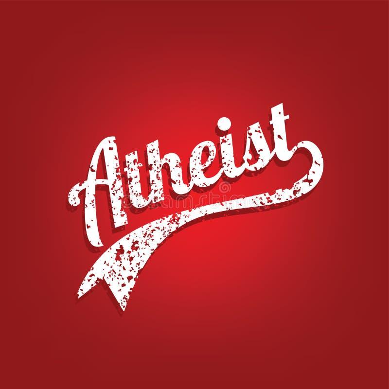 thème d'athéisme - contre la campagne religieuse d'ignorance illustration de vecteur