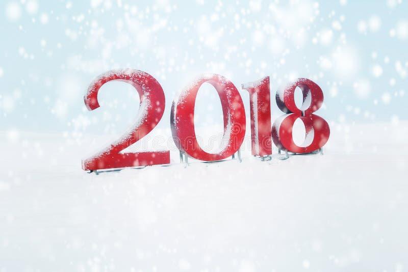 Thème 2018 de bonne année images stock