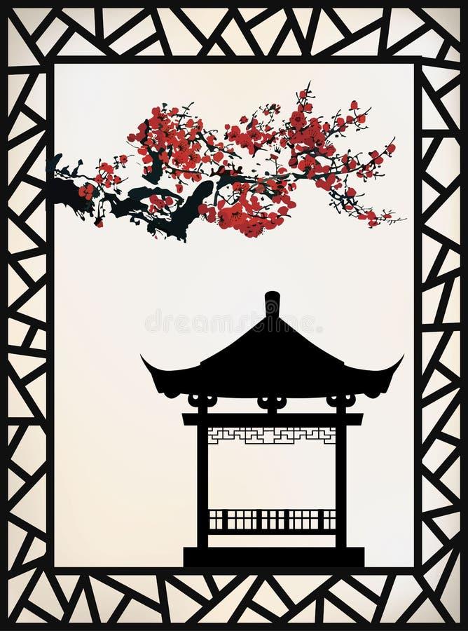 Thème de Chinois de vecteur illustration libre de droits