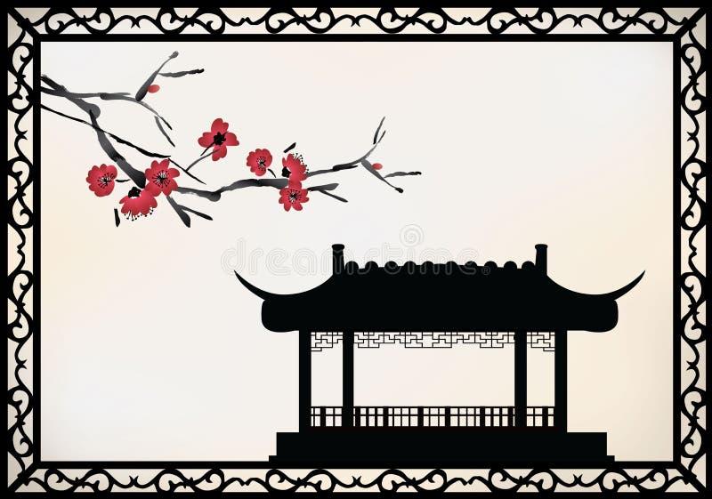 Thème de Chinois de vecteur illustration de vecteur