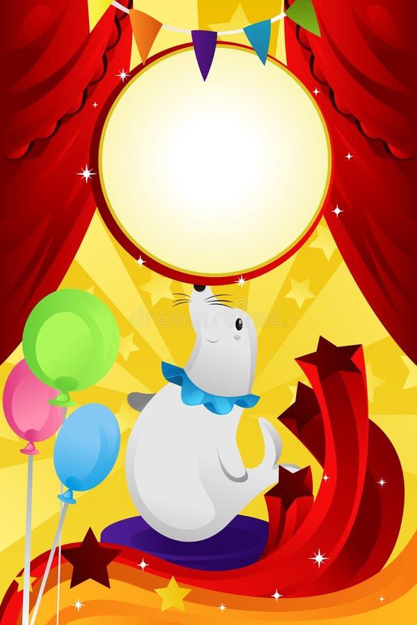 Thème de cirque illustration stock