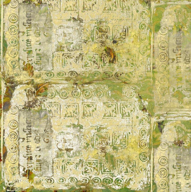 Thème de fond d'antiquité des textes de cru images libres de droits
