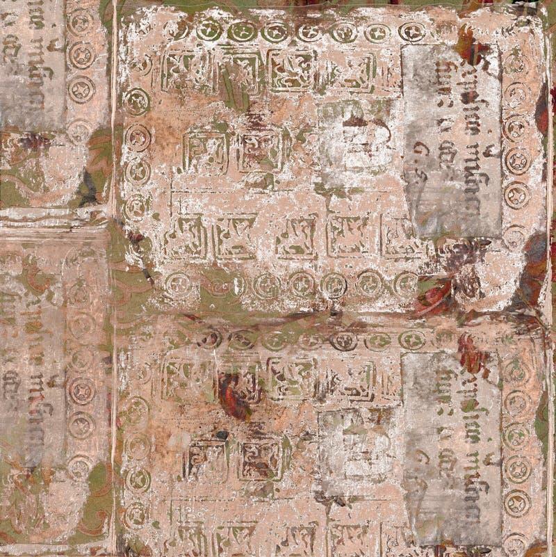 Thème de fond d'antiquité des textes de cru photographie stock libre de droits