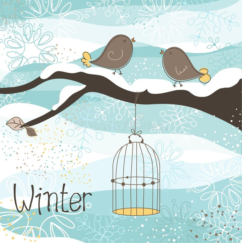 Thème de l'hiver illustration stock