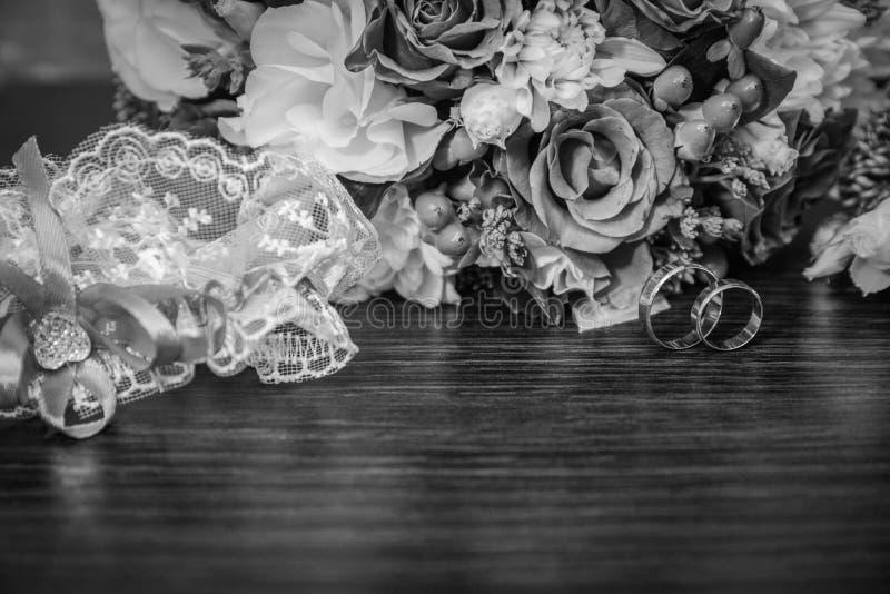 Thème de mariage, symbolique des histoires d'amour photographie stock libre de droits