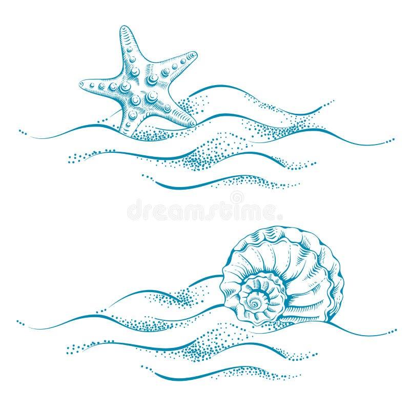 Thème de mer illustration de vecteur