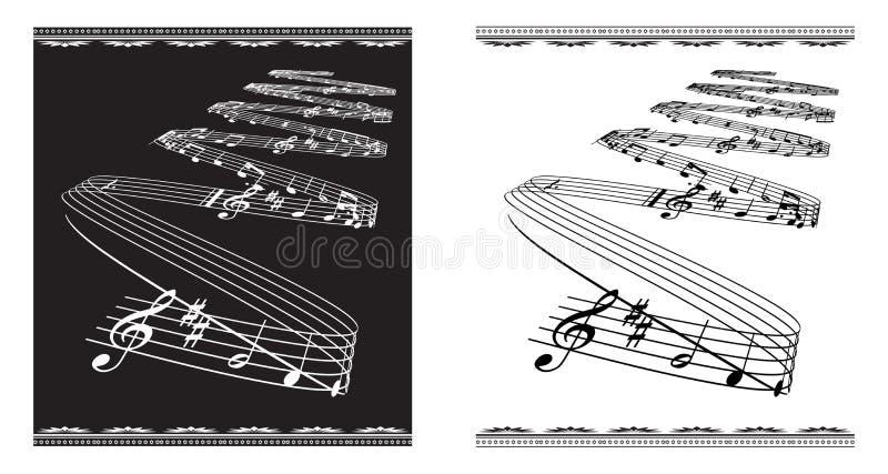 Thème de musique illustration stock