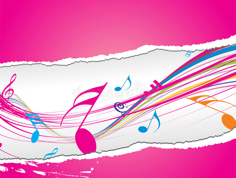 Thème de musique avec le papier de larme illustration stock