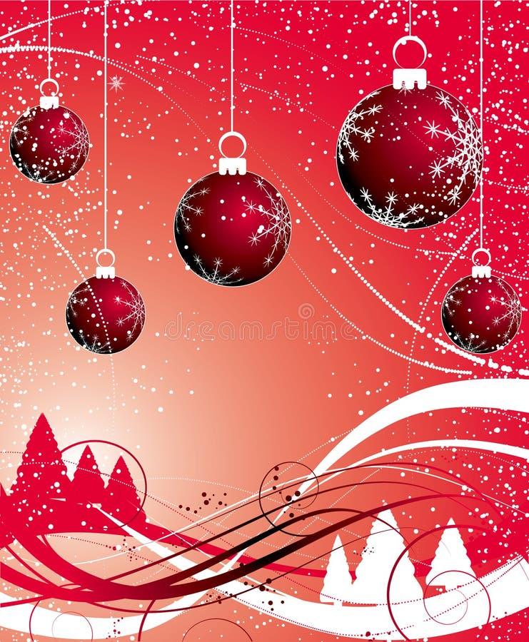 Thème de Noël illustration de vecteur