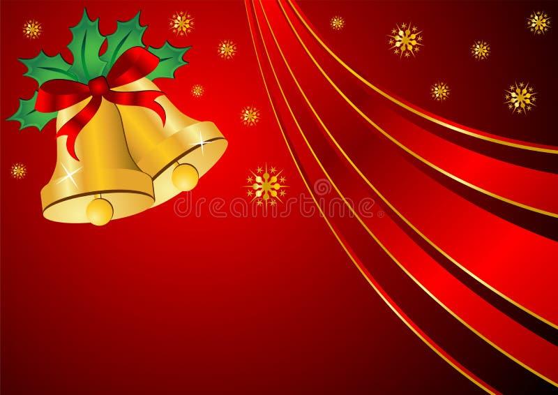 Thème de Noël au-dessus du rouge illustration stock