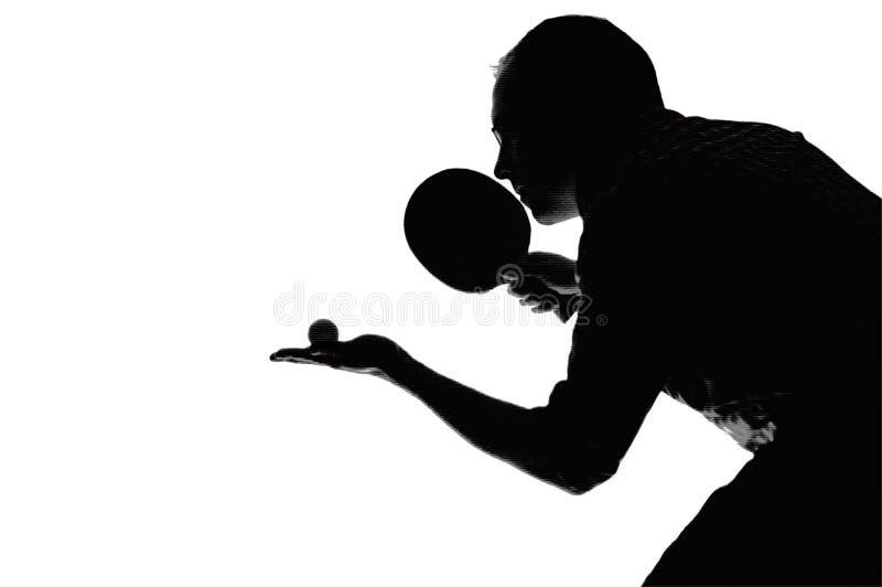 thème de ping-pong illustration libre de droits
