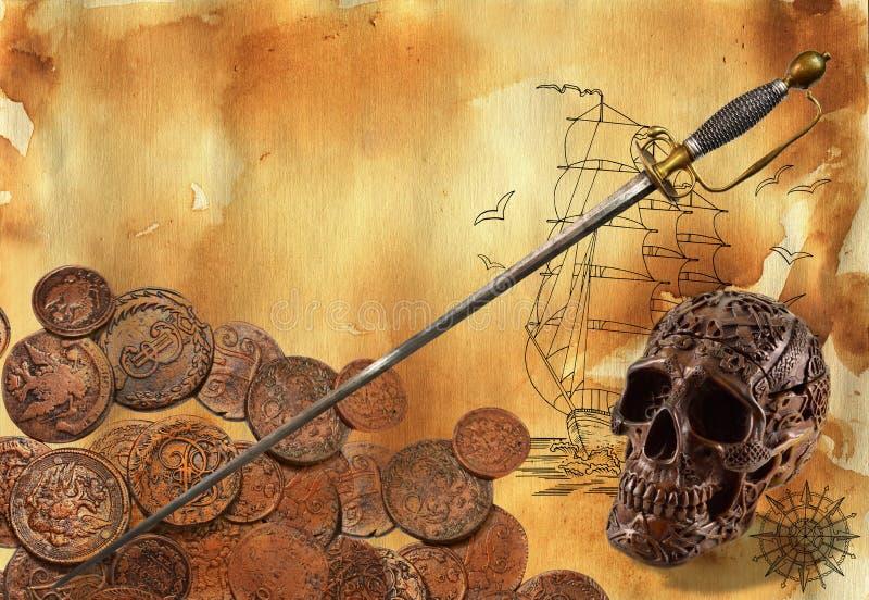 Thème 2 de pirate illustration stock