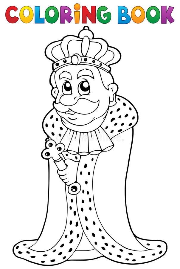 Thème 1 de roi de livre de coloriage illustration de vecteur