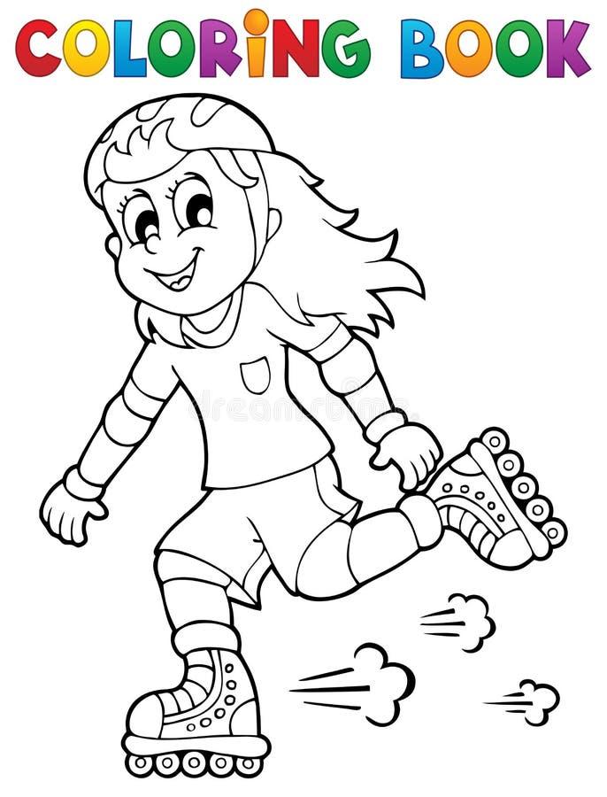 Thème 1 de sport en plein air de livre de coloriage illustration libre de droits