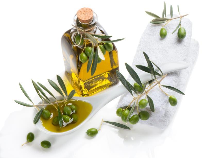 Thème de station thermale d'olive photo stock