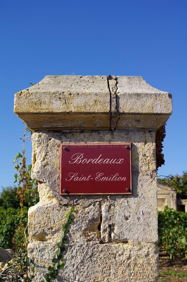 Thème de vin. Emilion de saint de Bordeaux photos stock