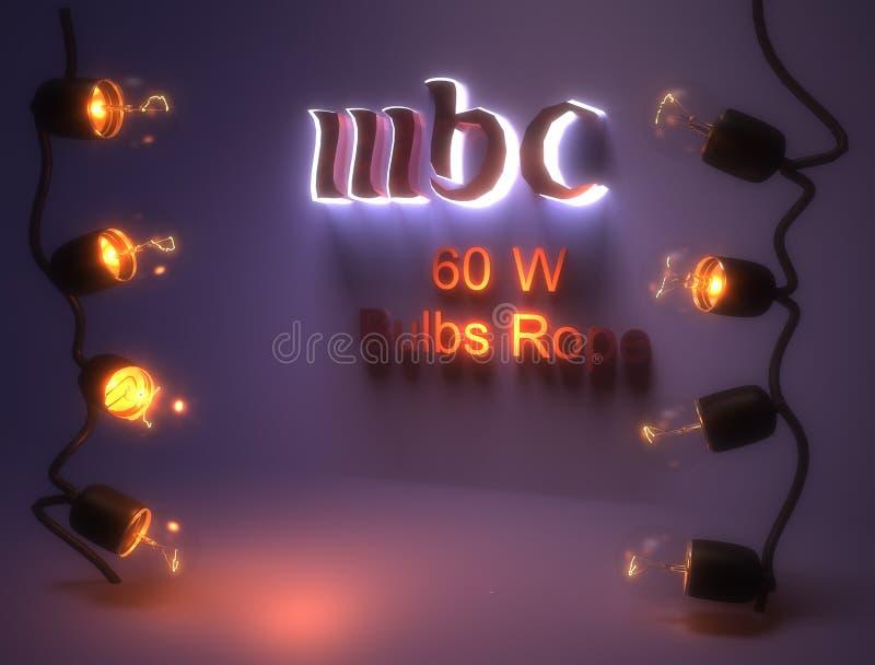 thème du MBC de l'Ampoule-corde 60w- image libre de droits