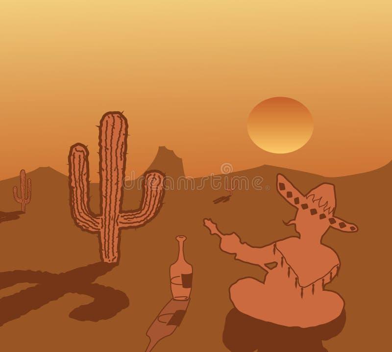 Thème du Mexique illustration libre de droits
