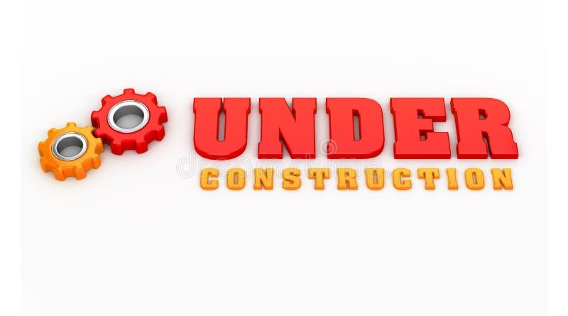 Thème en construction illustration libre de droits