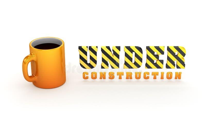 Thème en construction illustration stock