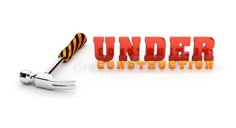Thème en construction illustration de vecteur