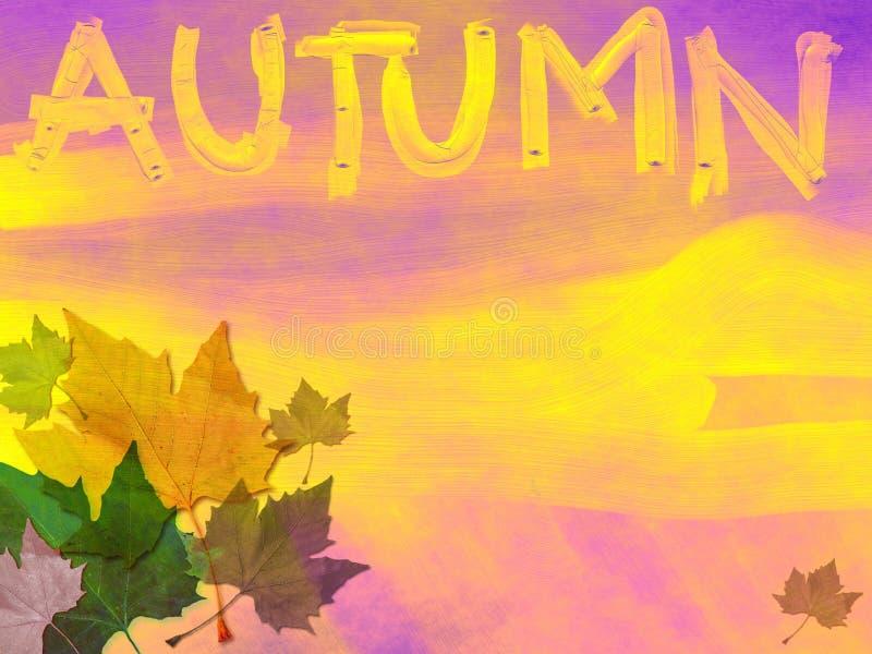 Thème grunge d'automne illustration de vecteur
