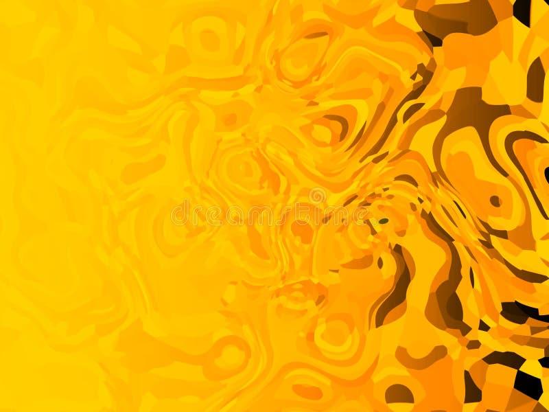 Thème liquide abstrait jaune de Halloween de fond illustration stock