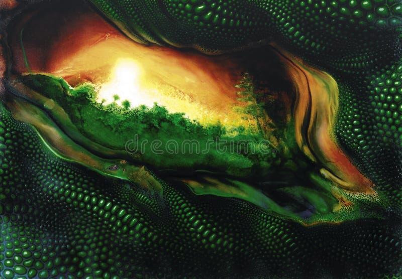 Thème mystique de reptile illustration stock