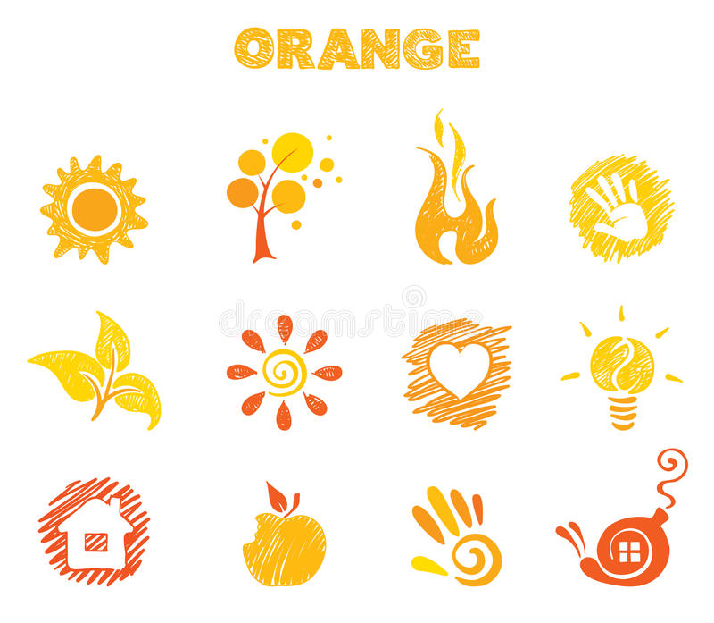 Thème orange illustration stock