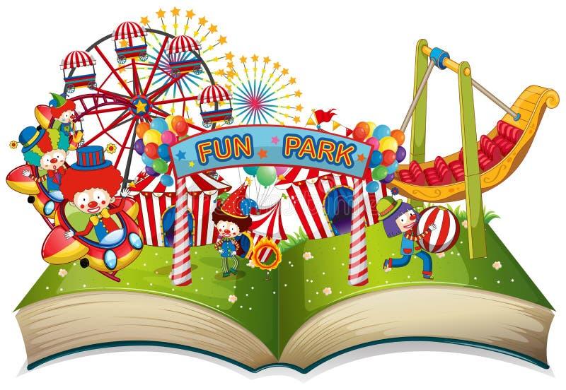 Thème ouvert de parc d'amusement de livre illustration stock