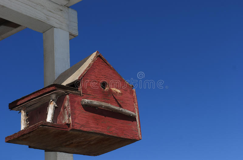 Thème rouge, blanc et bleu de Birdhouse americana - photos libres de droits