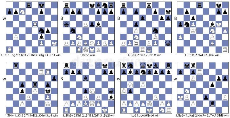 Thème tactique de collection de jeu d'échecs d'autoblock illustration libre de droits