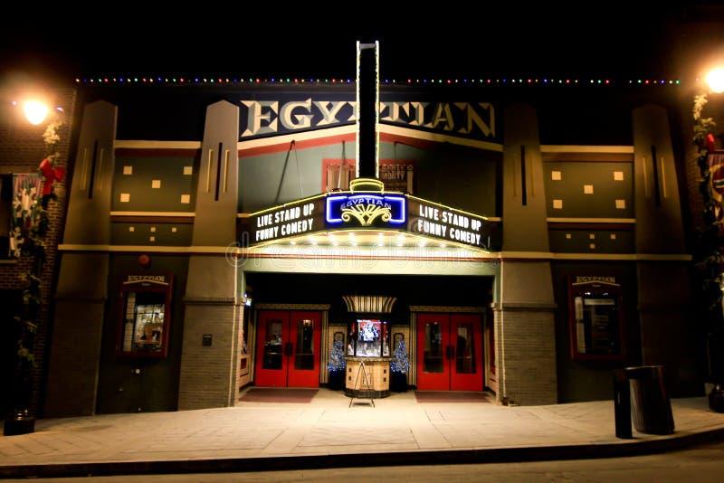 Théâtre égyptien Park City, Utah photo stock