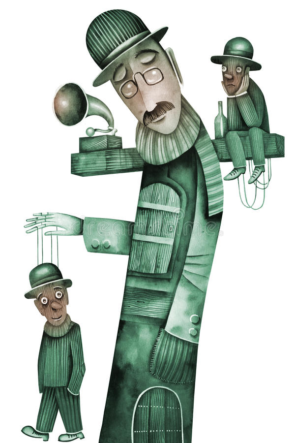 Théâtre avec des marionnettes photographie stock libre de droits