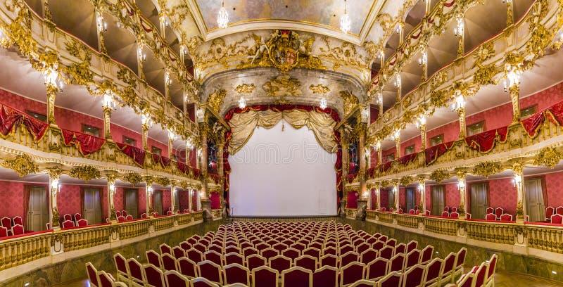 Théâtre célèbre intérieur de résidence de Munich photo libre de droits