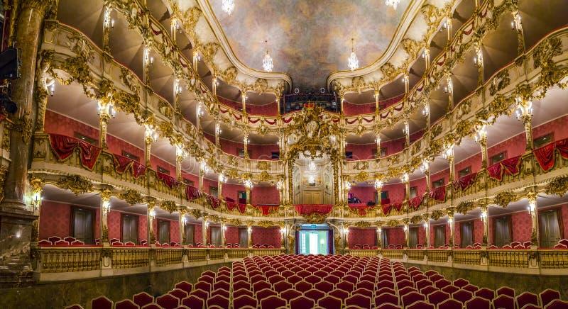 Théâtre célèbre intérieur de résidence de Munich image libre de droits