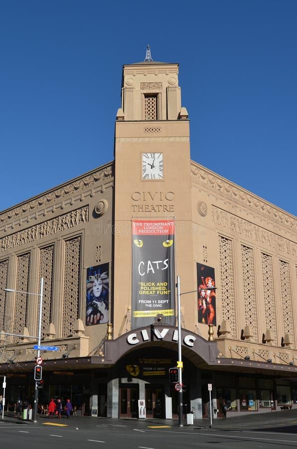 Théâtre civique d'Auckland sur la rue de la Reine - Nouvelle-Zélande photo stock