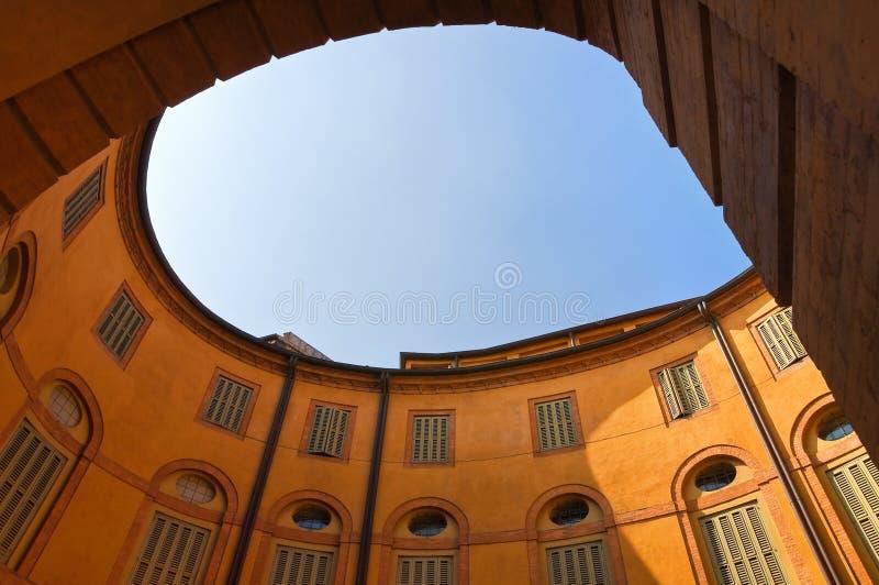 Théâtre communal. Ferrare. Émilie-Romagne. L'Italie. images libres de droits