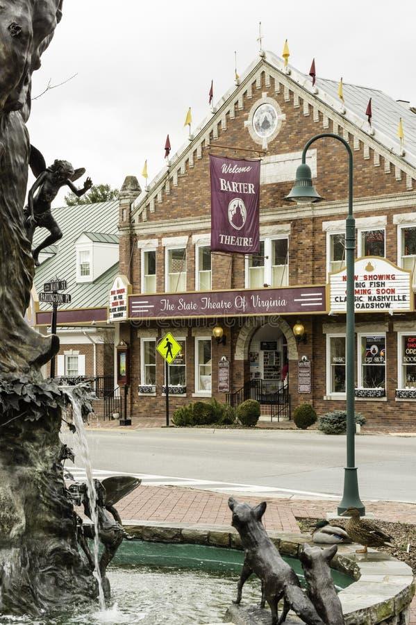 Théâtre d'échange dans Abingdon, la Virginie images stock